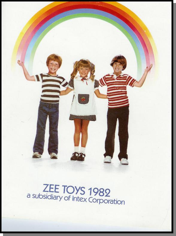 1982 Zee Toys Catalog Cover Page